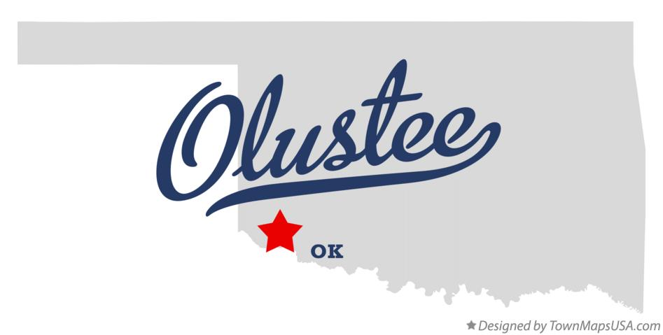 Map of Olustee Oklahoma OK