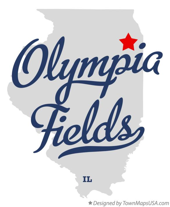 Map of Olympia Fields Illinois IL