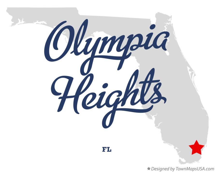 Map of Olympia Heights Florida FL