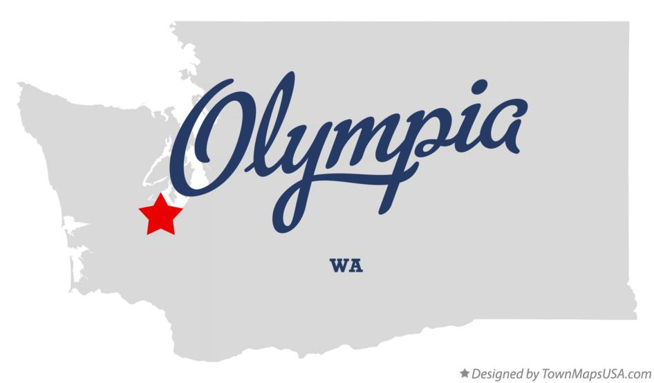 Map of Olympia Washington WA
