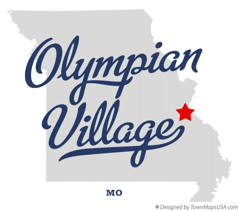 Map of Olympian Village Missouri MO