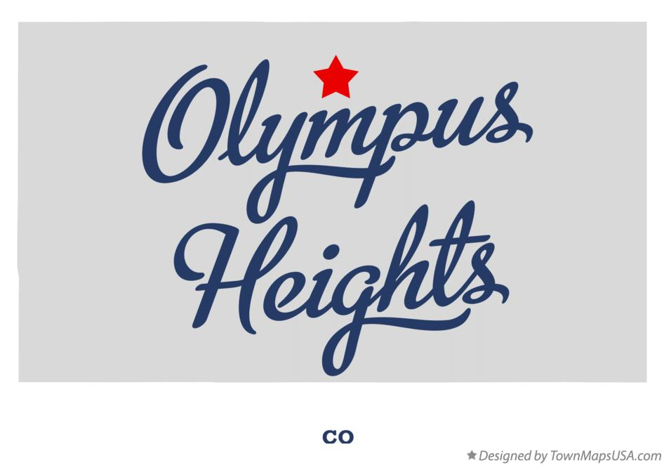 Map of Olympus Heights Colorado CO