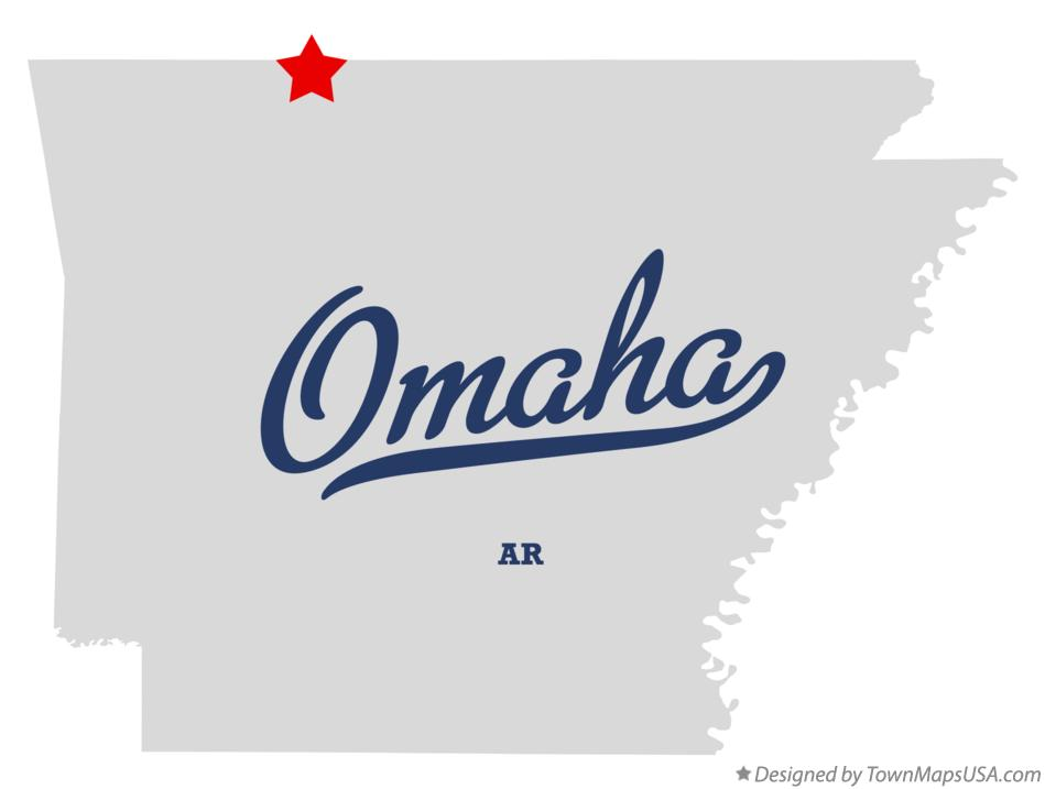 Map of Omaha Arkansas AR