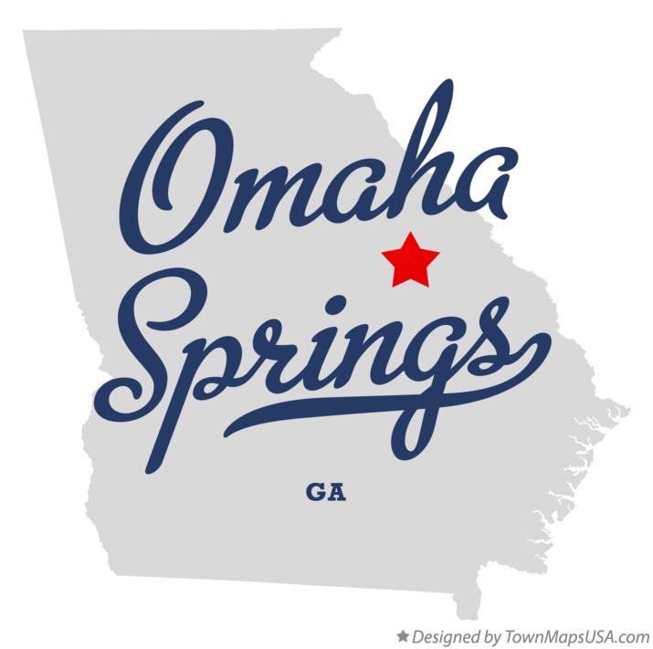 Map of Omaha Springs Georgia GA