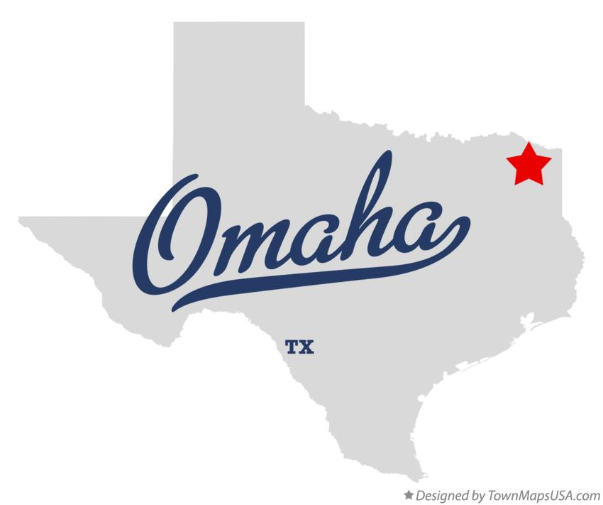 Map of Omaha Texas TX