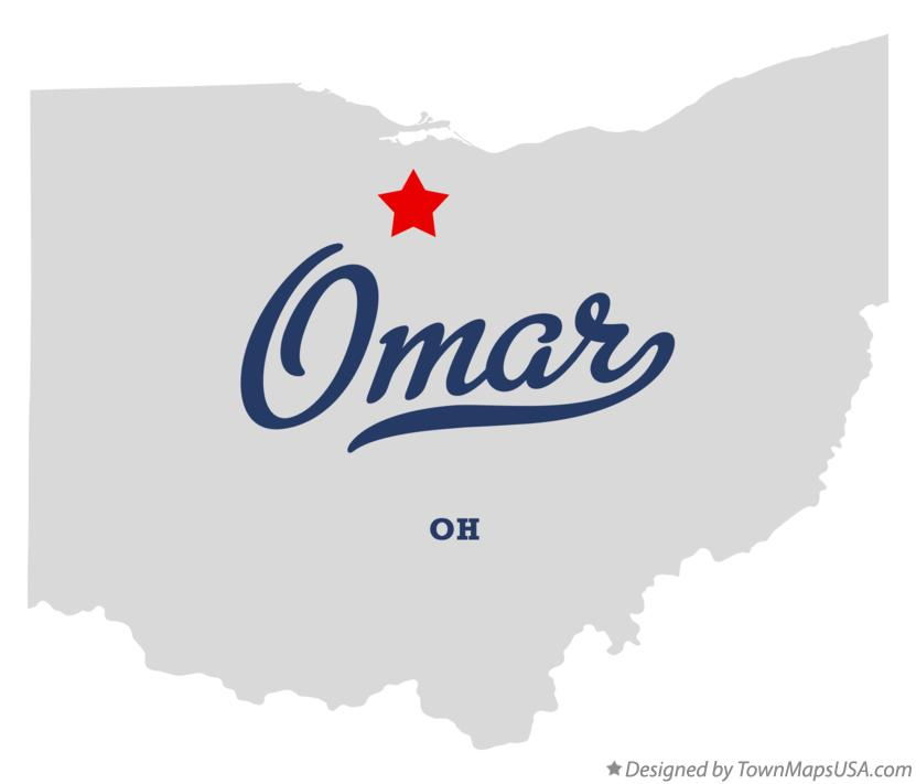Map of Omar Ohio OH