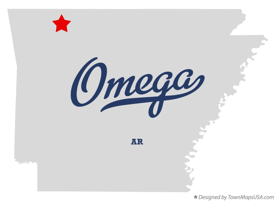 Map of Omega Arkansas AR