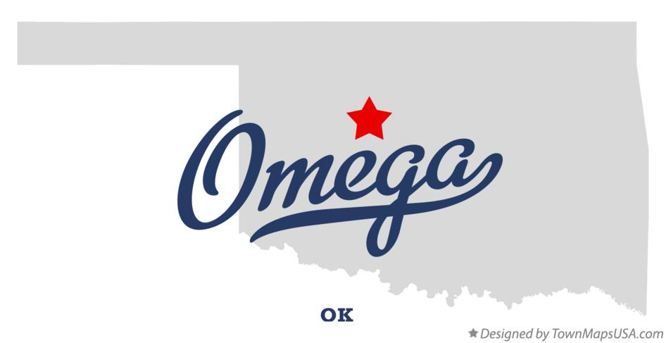 Map of Omega Oklahoma OK
