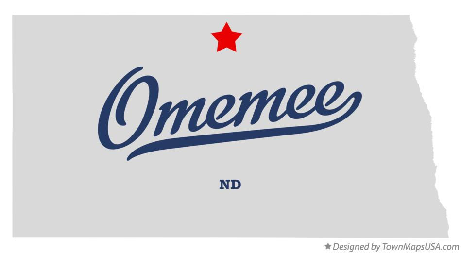Map of Omemee North Dakota ND