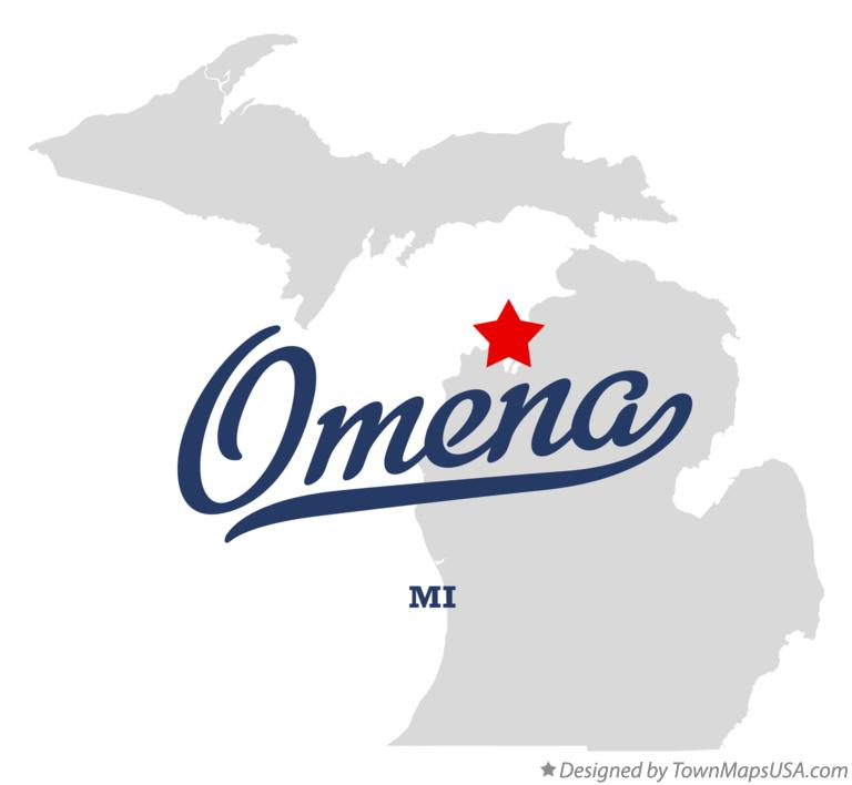 Map of Omena Michigan MI