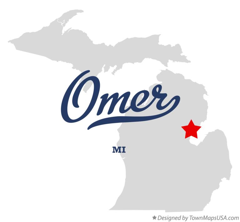 Map of Omer Michigan MI