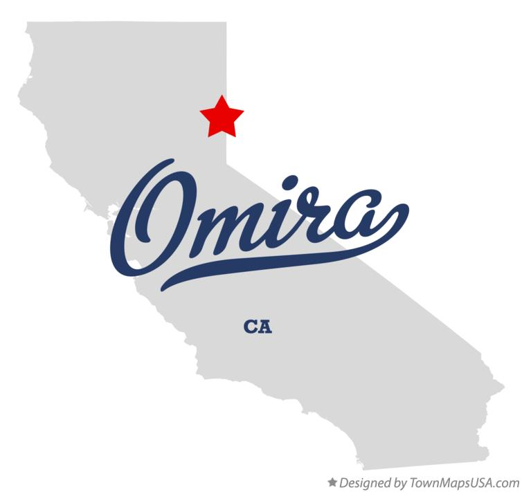 Map of Omira California CA