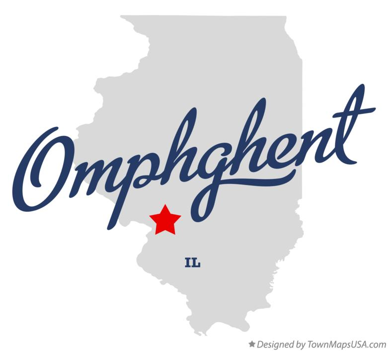 Map of Omphghent Illinois IL