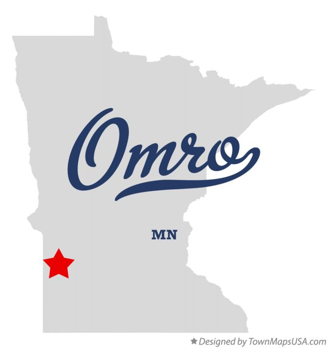 Map of Omro Minnesota MN