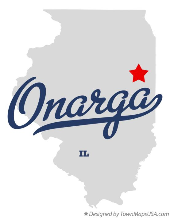 Map of Onarga Illinois IL