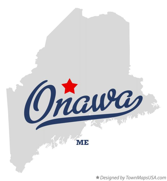 Map of Onawa Maine ME