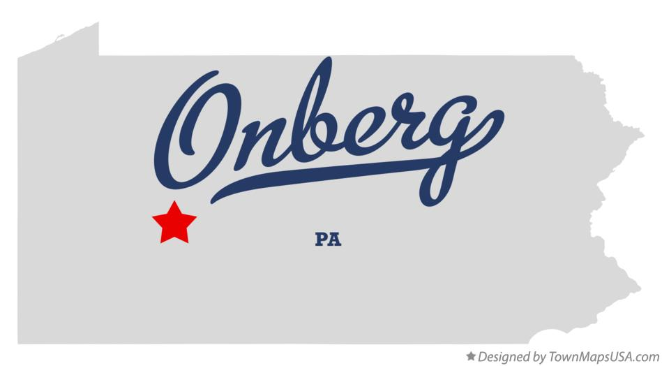 Map of Onberg Pennsylvania PA