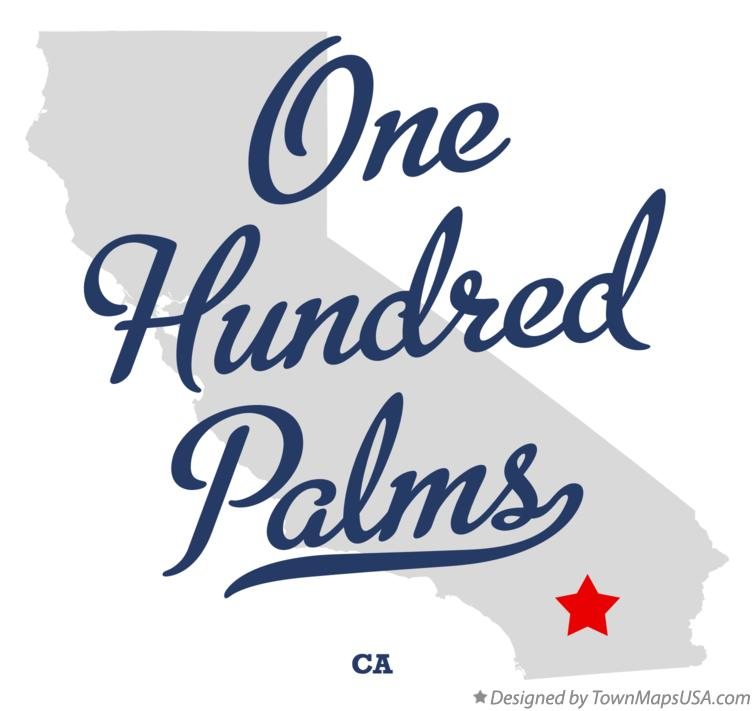 Map of One Hundred Palms California CA