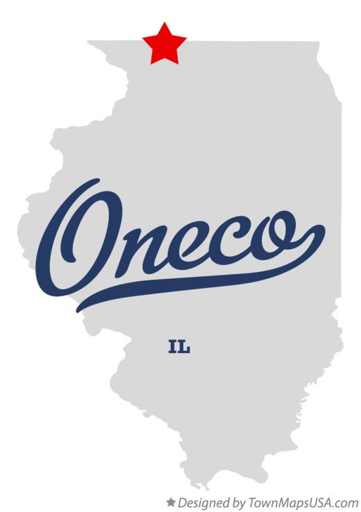 Map of Oneco Illinois IL