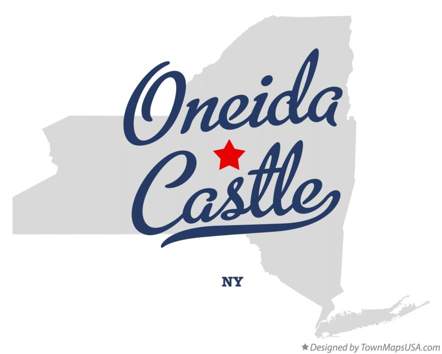 Map of Oneida Castle New York NY