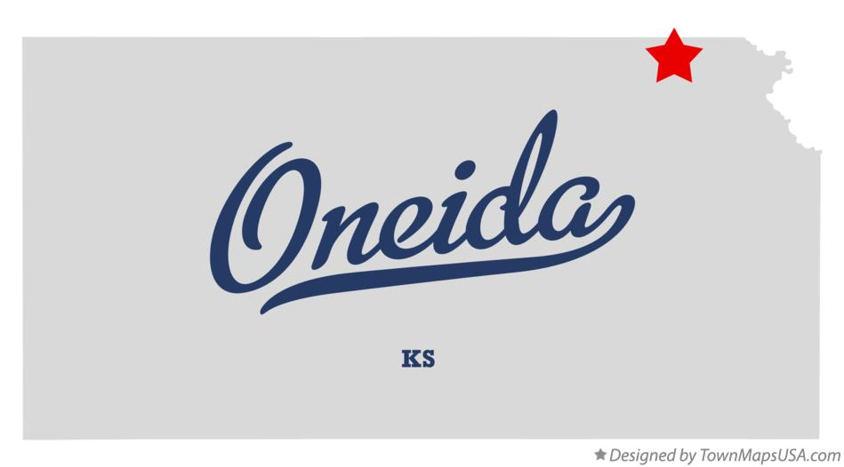 Map of Oneida Kansas KS