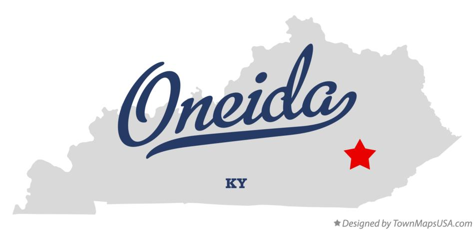 Map of Oneida Kentucky KY