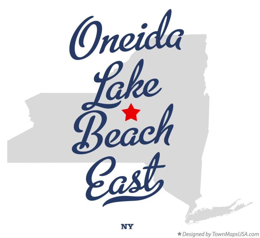 Map of Oneida Lake Beach East New York NY