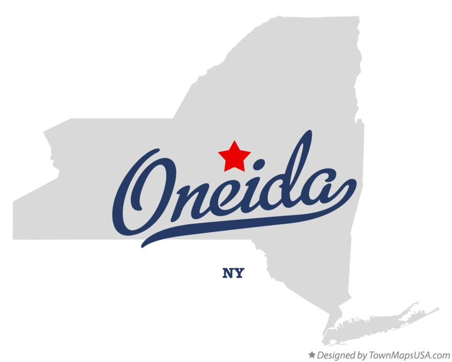 Map of Oneida New York NY