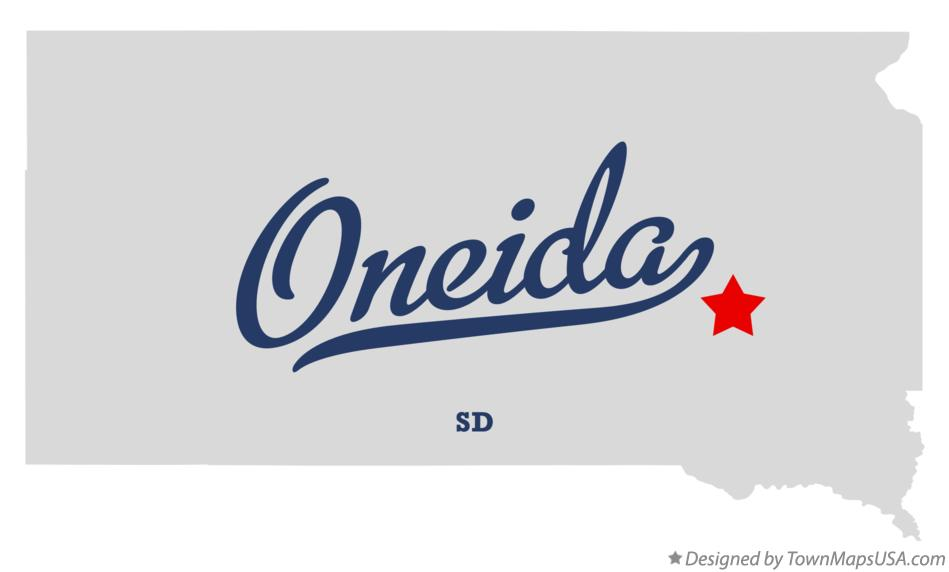 Map of Oneida South Dakota SD