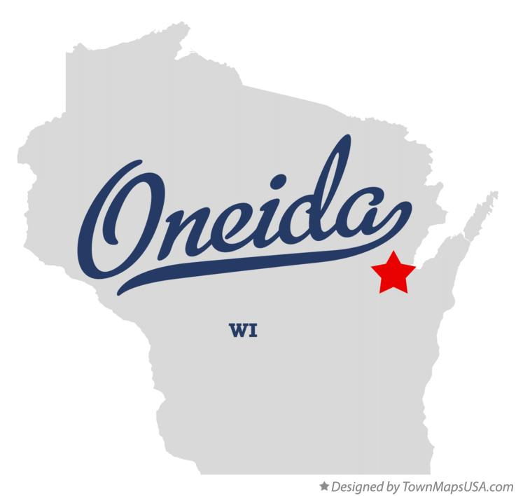 Map of Oneida Wisconsin WI