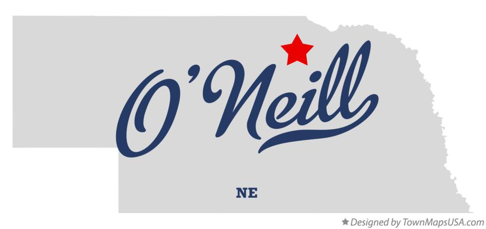 Map of O'Neill Nebraska NE