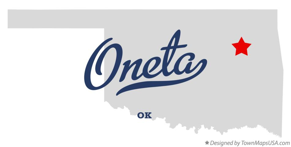 Map of Oneta Oklahoma OK