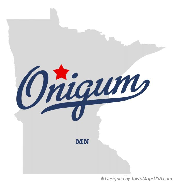 Map of Onigum Minnesota MN