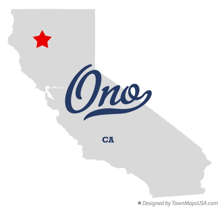 Map of Ono California CA