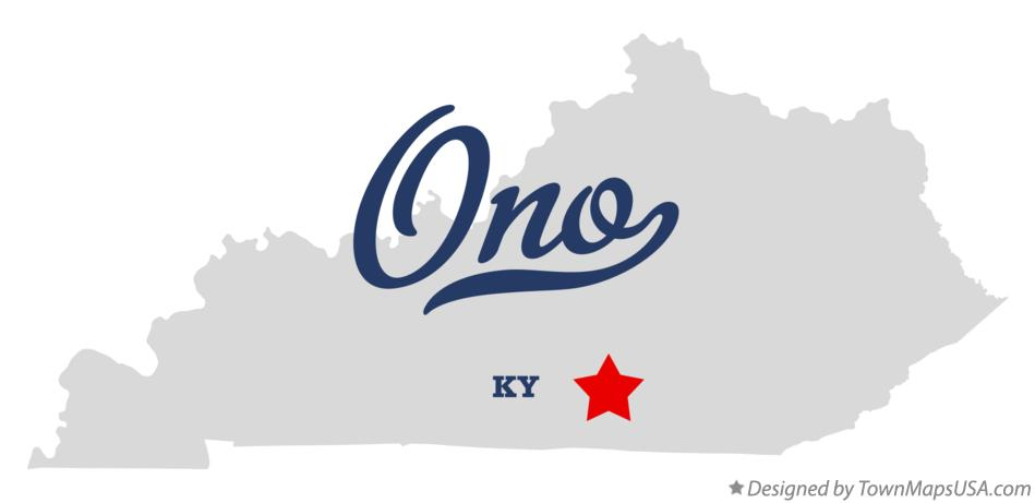 Map of Ono Kentucky KY