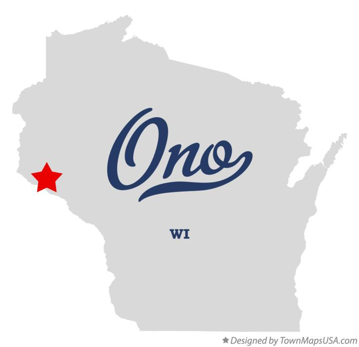 Map of Ono Wisconsin WI