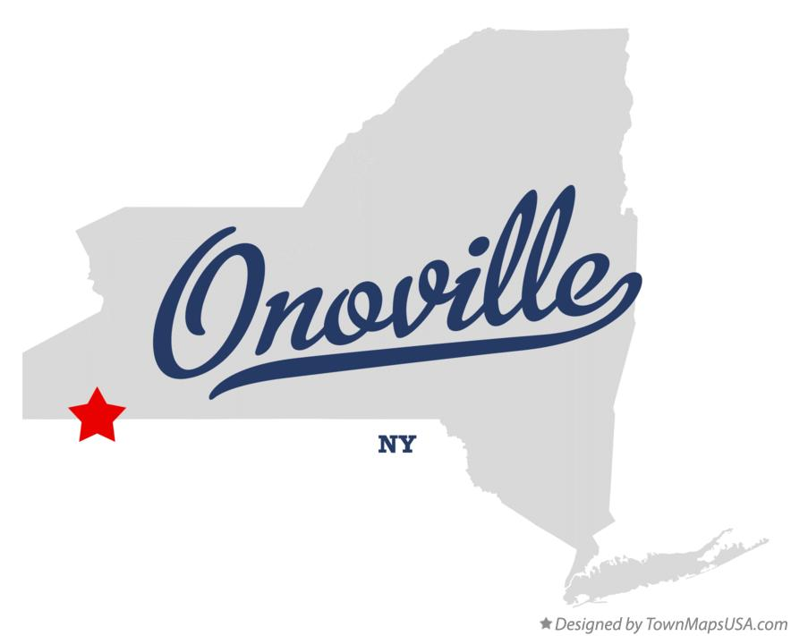 Map of Onoville New York NY