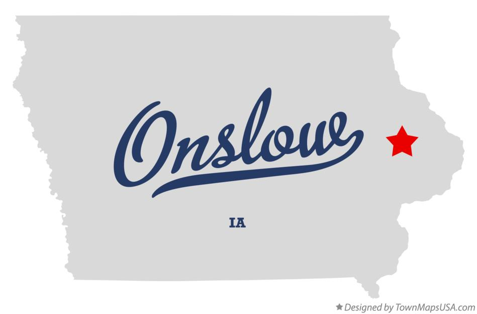 Map of Onslow Iowa IA