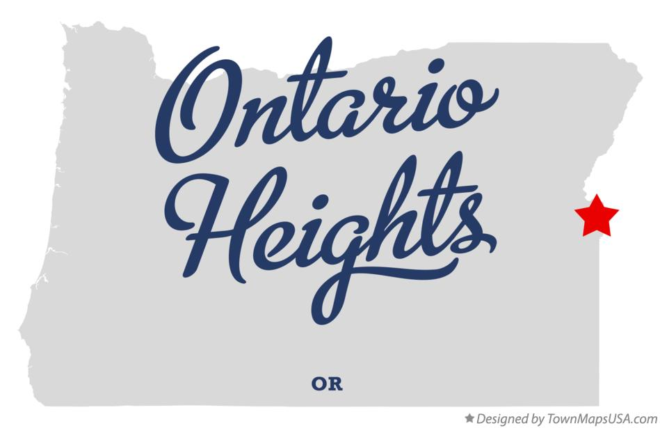 Map of Ontario Heights Oregon OR