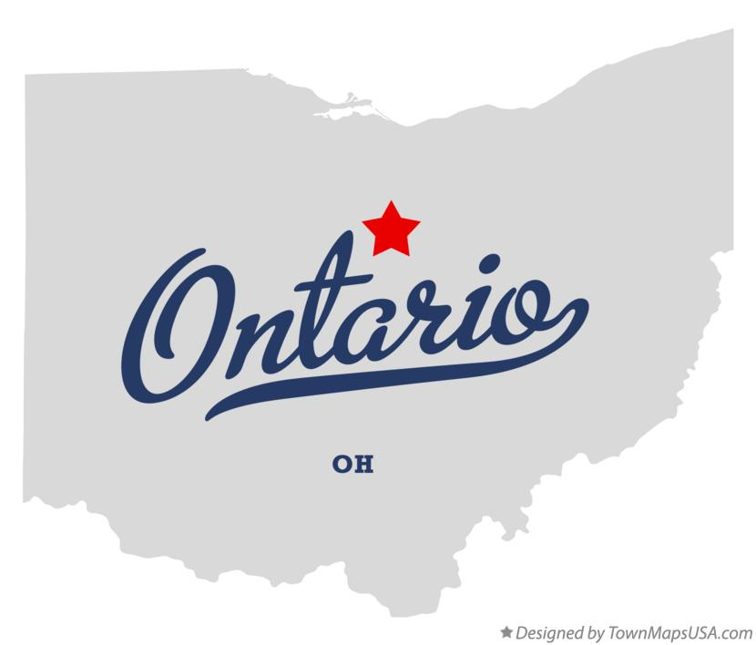 Map of Ontario Ohio OH