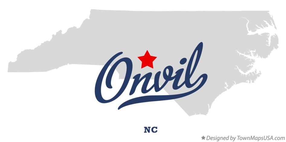 Map of Onvil North Carolina NC