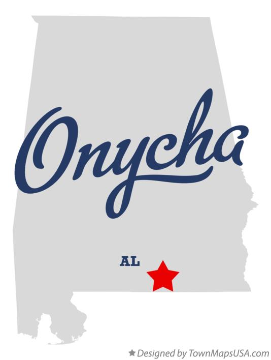 Map of Onycha Alabama AL