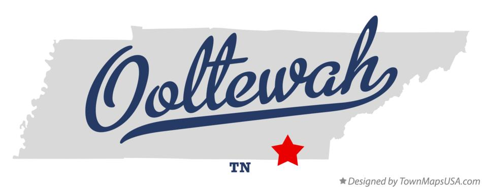 Map of Ooltewah Tennessee TN