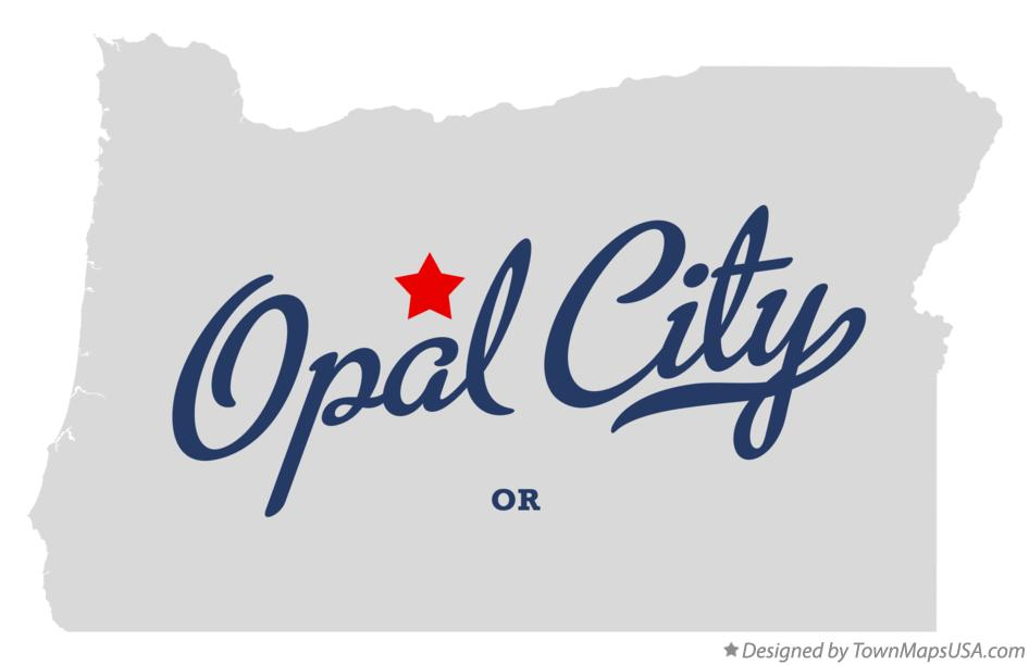 Map of Opal City Oregon OR