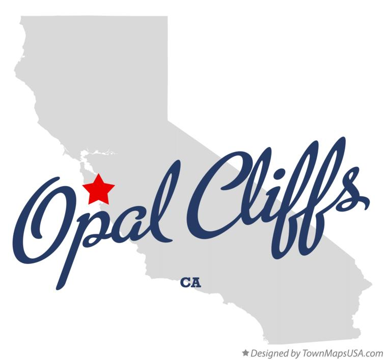 Map of Opal Cliffs California CA