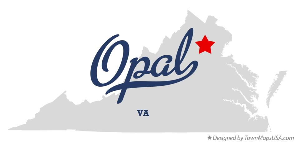 Map of Opal Virginia VA