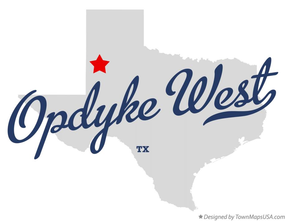 Map of Opdyke West Texas TX