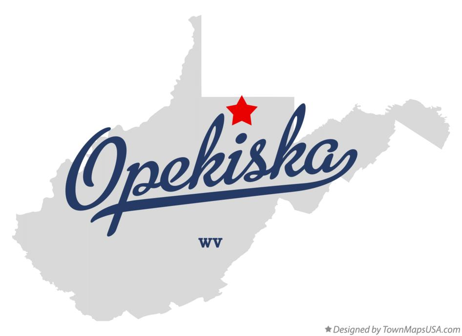 Map of Opekiska West Virginia WV