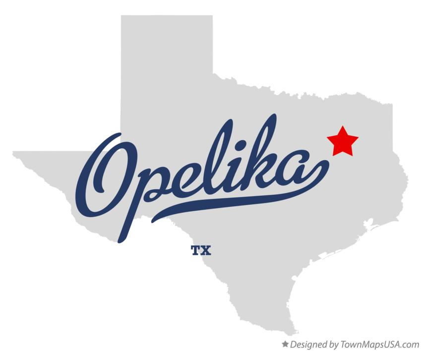 Map of Opelika Texas TX