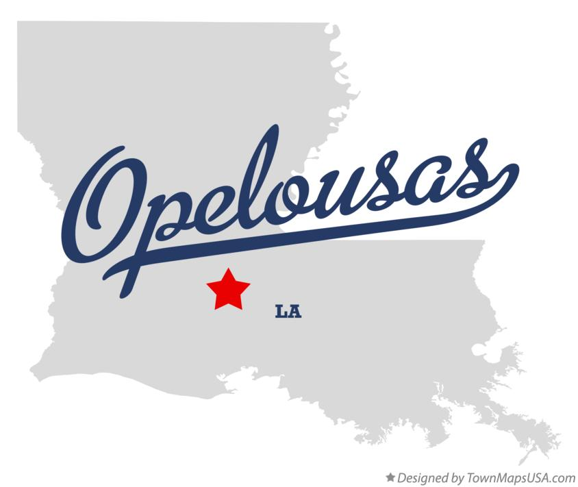 Map of Opelousas Louisiana LA
